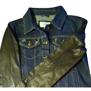 Denim faux leather Laundry by Shelli Segal jacket